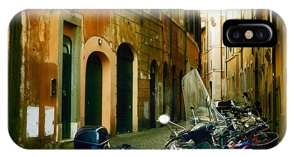 Golden Gate Bridge iPhone Case - narrow streets in Rome by Joana Kruse