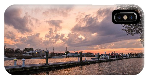 Chesapeake Bay iPhone X Case - Narrows Sunset by Kristopher Schoenleber