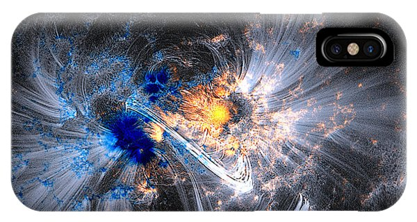 Nasa Coronal Loops Over A Sunspot Group IPhone Case