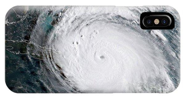 Nasa Hurricane Irma Satellite Image IPhone Case