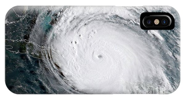 Nasa Hurricane Irma Satellite Image IPhone Case