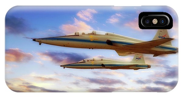 IPhone Case featuring the photograph Nasa T-38 Talons At Sunrise - Pilot - Airplanes by Jason Politte
