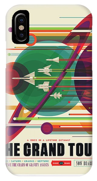 Nasa The Grand Tour Poster Art Visions Of The Future IPhone Case