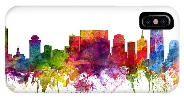 Nashville Skyline iPhone Case - Nashville Cityscape 06 by Aged Pixel