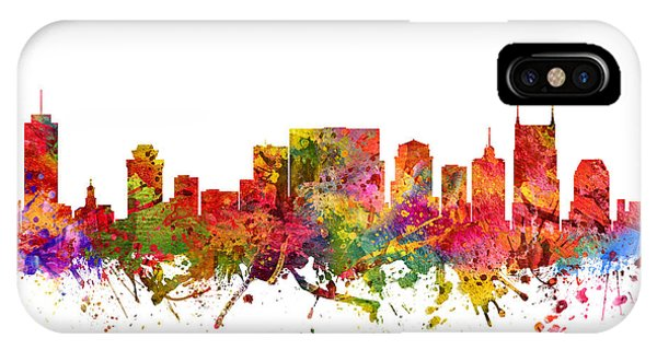 Nashville Skyline iPhone Case - Nashville Cityscape 08 by Aged Pixel