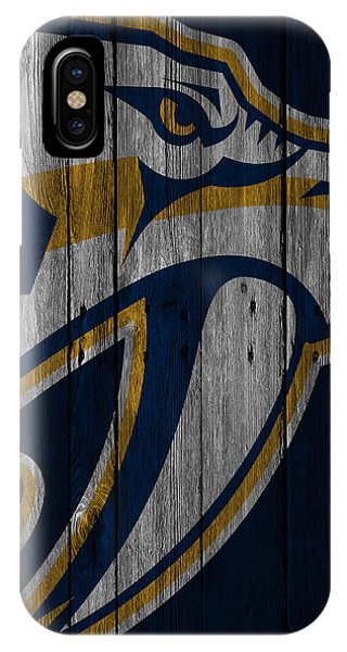 Nashville Predators Wood Fence IPhone Case