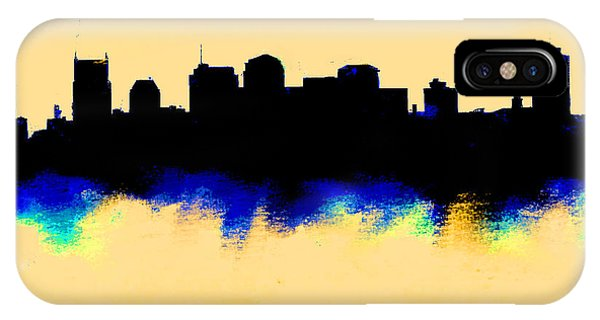 Ben Affleck iPhone Case - Nashville  Skyline  by Enki Art