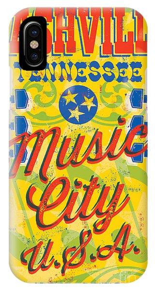 Concert iPhone Case - Nashville Tennessee Poster by Jim Zahniser