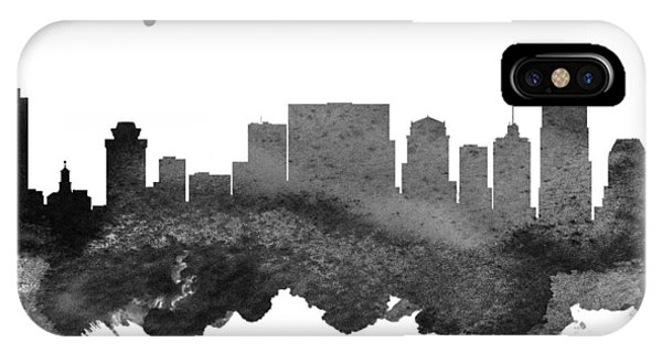 Nashville Skyline iPhone Case - Nashville Tennessee Skyline 18 by Aged Pixel