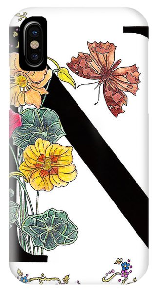 Nasturtium And Nettle-tree Butterfly IPhone Case