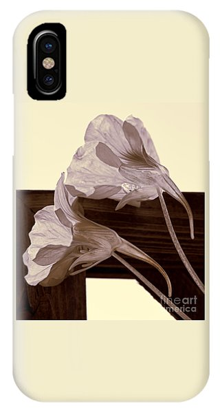 Nasturtiums On Old Fence IPhone Case
