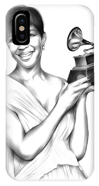 Rhythm And Blues iPhone X / XS Case - Natalie Cole by Greg Joens