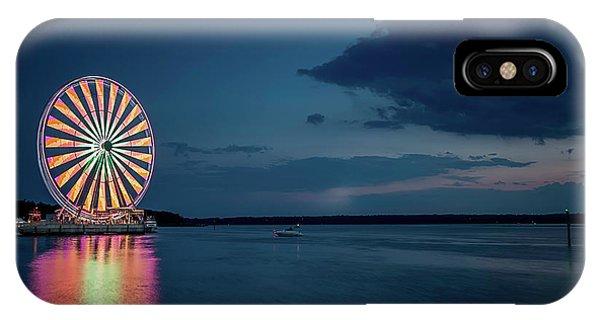 National Harbor Ferris Wheel IPhone Case