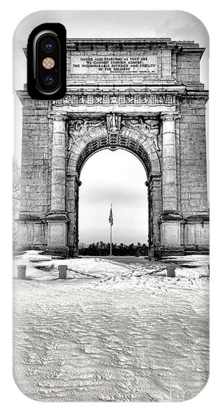 Revolutionary iPhone Case - National Memorial Arch In Winter by Olivier Le Queinec