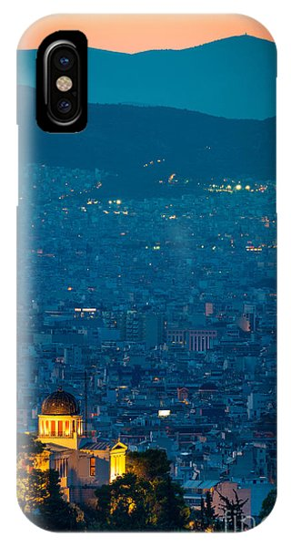 Greece iPhone X Case - National Observatory Of Athens by Inge Johnsson