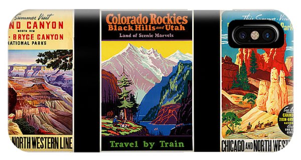 Us National Parks iPhone Case - National Parks Posters by Delphimages Photo Creations