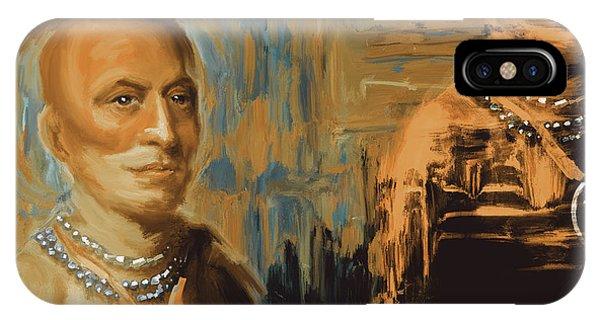 King Charles iPhone Case - Native American 273 2 by Mawra Tahreem