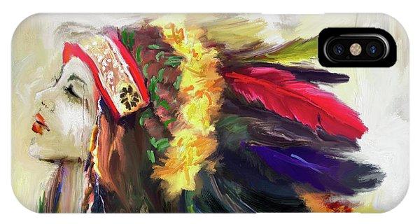 King Charles iPhone Case - Native American 274 1 by Mawra Tahreem