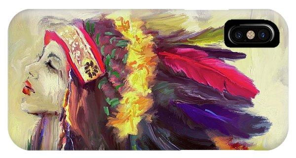 Native American 274 3 IPhone Case