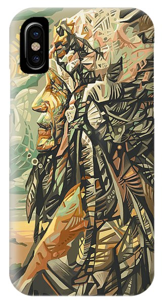 Grand Canyon iPhone Case - Native American Chief 2 by Bekim Art