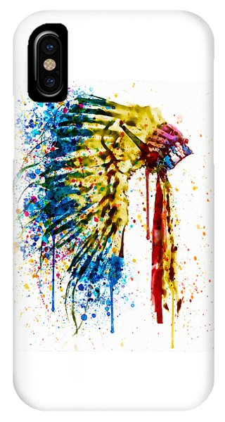 Native American Feather Headdress   IPhone Case