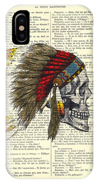 Native iPhone Case - Native American Skull by Madame Memento