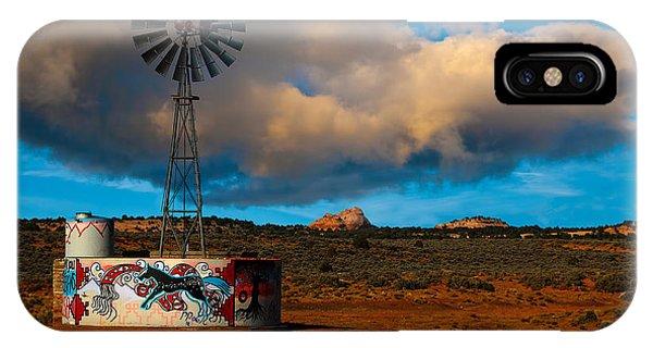 Native American Windmill IPhone Case
