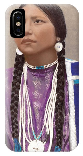 Native American Woman IPhone Case