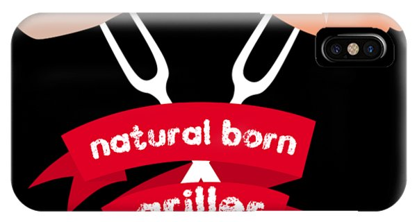 Barbeque iPhone Case - Natural Born Griller Bbq Barbecue Gift by Michael S