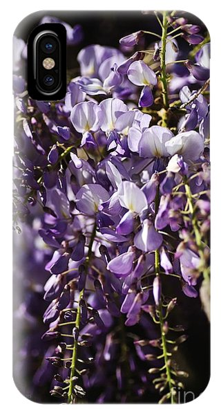 Natural Wisteria Bouquet IPhone Case