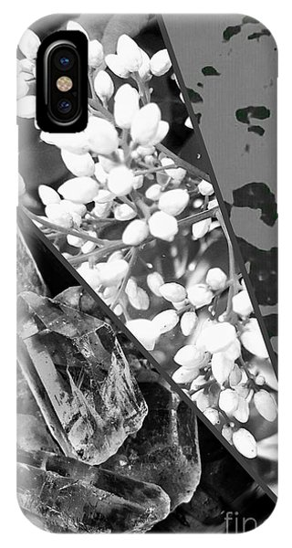 Nature Collage In Black And White IPhone Case