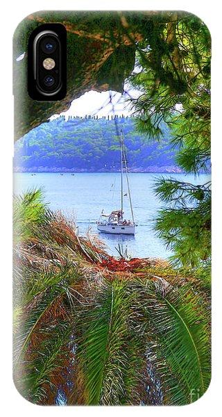 Nature Framed Boat IPhone Case