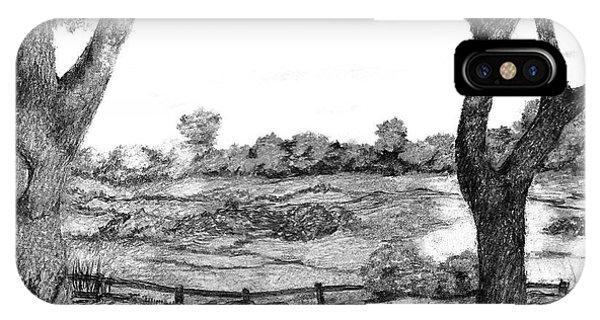 Nature Sketch IPhone Case