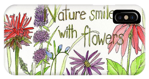 Nature Smile With Flowers IPhone Case