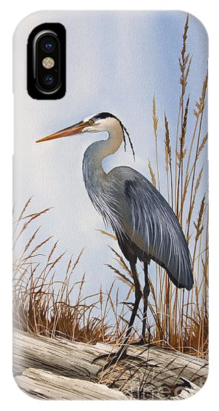 Heron iPhone Case - Nature's Gentle Beauty by James Williamson