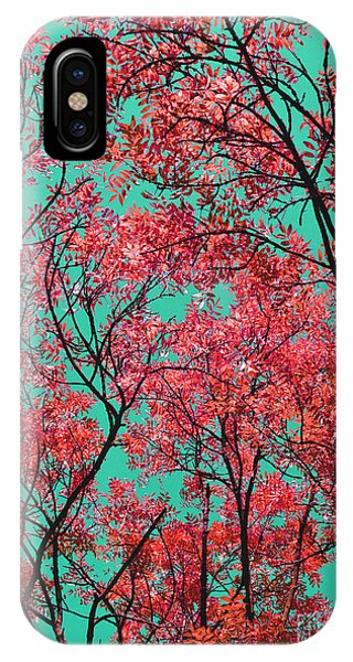 Natures Magic - Fire Red IPhone Case