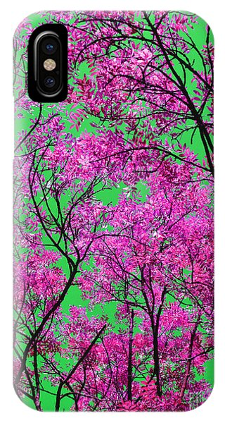 Natures Magic - Pink And Green IPhone Case