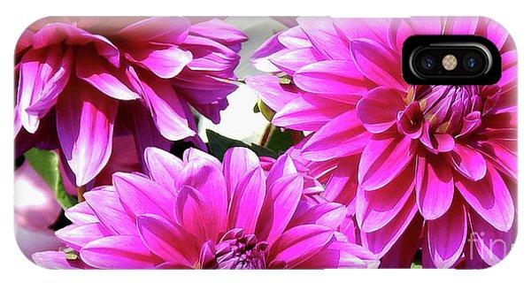 Natures Perfume Dahlias Red Tones IPhone Case