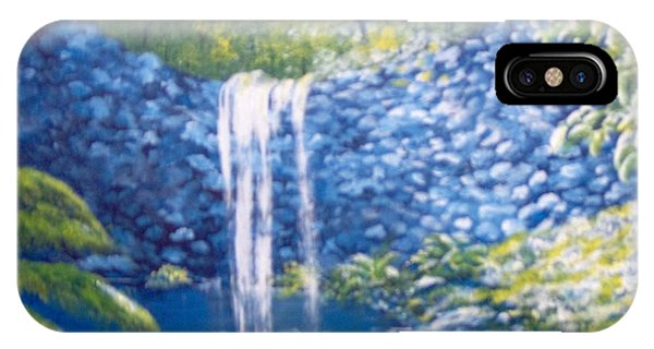 IPhone Case featuring the painting Nature's Pool by Saundra Johnson