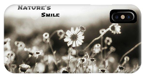 Nature's  Smile Monochrome IPhone Case