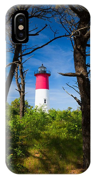 Nubble Light iPhone X Case - Nauset Lighthouse by Emmanuel Panagiotakis