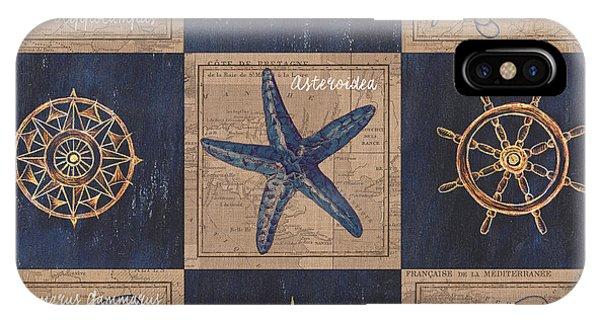 Nautical iPhone Case - Nautical Burlap by Debbie DeWitt