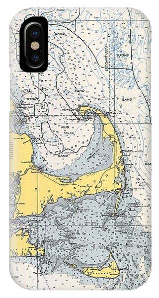 Vintage Cape Cod Nautical Chart 1945v IPhone Case