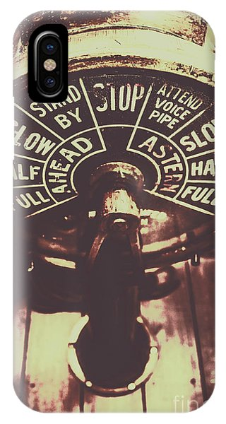 Nautical iPhone Case - Nautical Engine Room Telegraph by Jorgo Photography - Wall Art Gallery