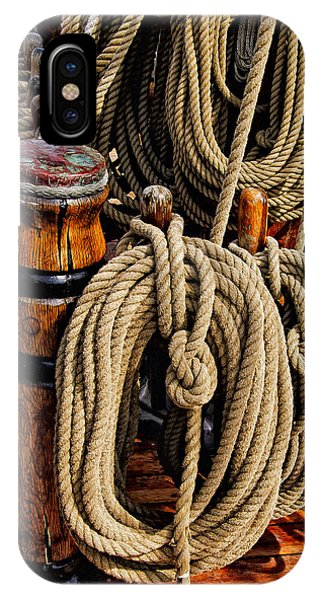 IPhone Case featuring the photograph Nautical Knots 17 Oil by Mark Myhaver