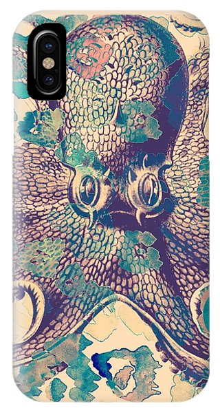 Tropical iPhone Case - Nautical Octopus by Brandi Fitzgerald