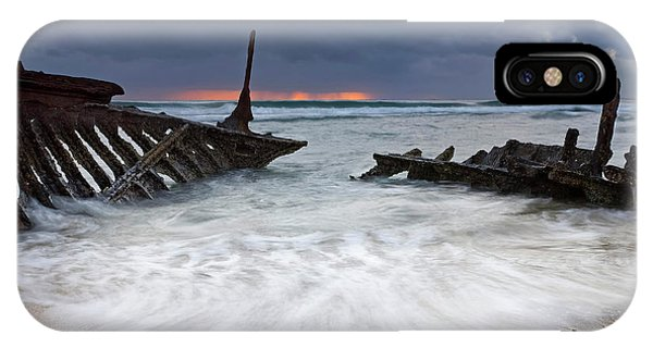 Wreck iPhone Case - Nautical Skeleton by Mike  Dawson
