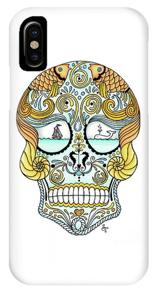 Nautical Sugar Skull IPhone Case