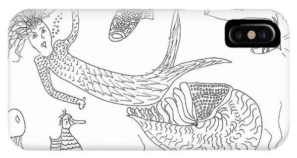 Nautilus And Hello Mermaid IPhone Case