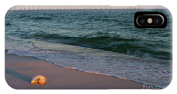 IPhone Case featuring the photograph Nautilus And Pier by Steven Frame